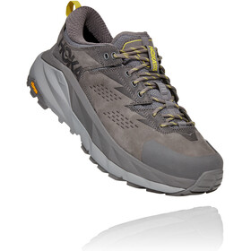 Hoka One One Kaha GTX Low Shoes Men, charcoal gray/green sheen